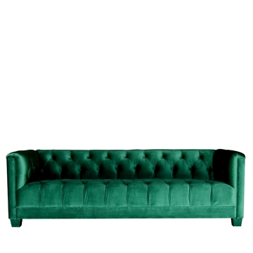 Luxe 3 Seater Emerald Green