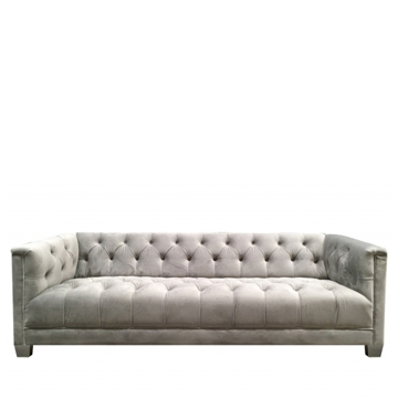 Luxe 3 Seater Grey